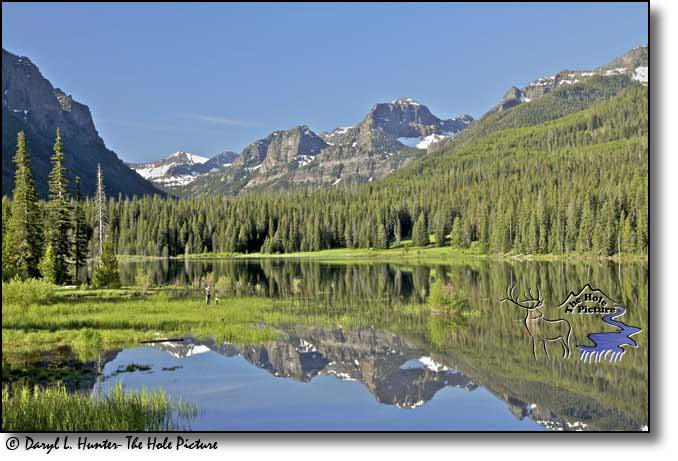 Hylite Reservior, Gallatin Mountain Range, reflection, Bozeman, Montana