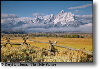 Buckrail Fence, Grand Teton, Grand Teton National Park, Wyoming