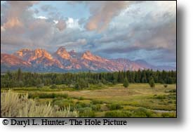 Grand Teton  sunrise, Jackson Hole, Wyoming