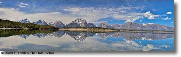 Grand Tetons cast Reflection in Jackson Lake in Grand Teton National Park