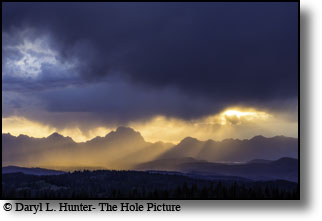 The Grand Teton at sunset, Jackson Hole, Wyoming