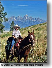 curtis canyon horseback rider Grand Teton Mountains