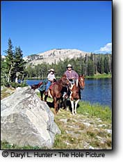horseback riders Goodwin Lake