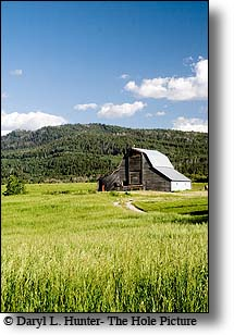 Barn, hay field, victor Idaho