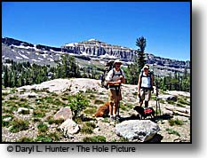 Hikers Alaska Basin Grand Teton Mountains