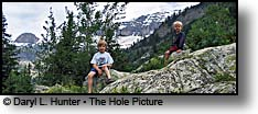 kids hiking South Teton Canyon