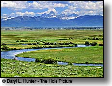 Teton River, Grand Teton Mountains, Teton Valley Idaho