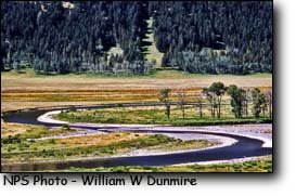 Lamar River snakes through Yellowstone Park's Lamar Valley