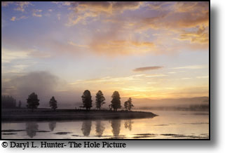 Yellowstone River sunrise at Hayden Valley