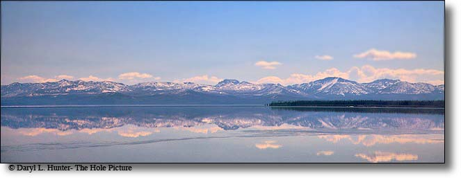 Yellowstone Lake, Absaroka Mountain Reflection, Yellowstone National Park
