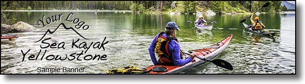 Sea kayak touring Yellowstone