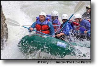 Rafters, whitewater, Gallatin River, Big Sky, Monana