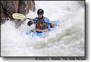 Gallatin River Kayaker