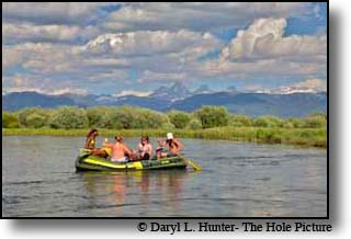 Rafting on Teton River outside of Driggs Idaho