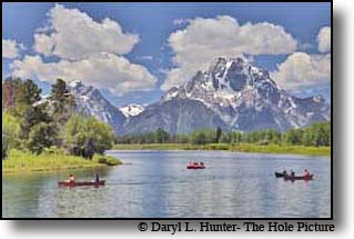 Canoeing on the Snake River in Grand Teton National Park
