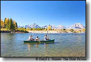 Canooing the Snake River in Grand Teton National Park