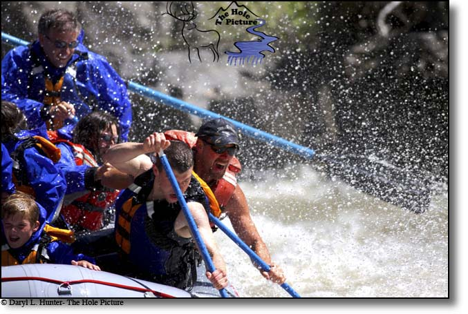 Whitewater rafting, gallatin River, big sky, montana