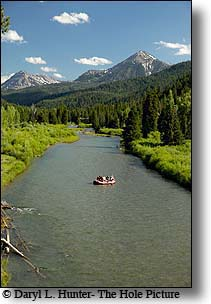 rafting the Greys River in the Wyoming Range near Alpine Wyoming