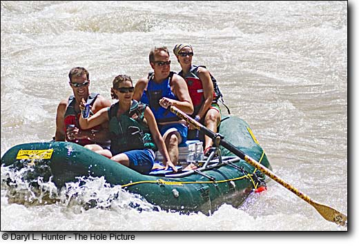 Whitewater Rafters, Hoback River, Jackson Hole Wyoming