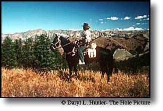horseback rider Gros Ventre Wilderness