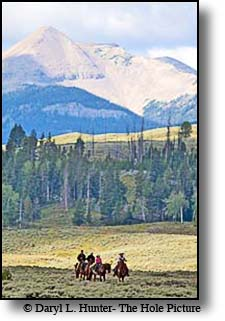 Trail riding and pack trips are popular activities in the Gallatin Range