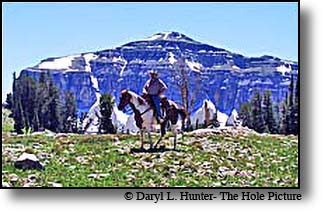 horseback rider Alaska Bason Grand Teton Mountains