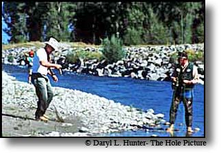Chuck Yeager & Guide Mike Lawson - One Fly Fishing Contest
