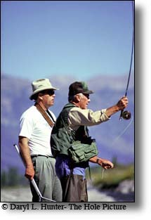 Chuck Yeager Mike Lawson fly fishing Snake River Jackson Hole WY