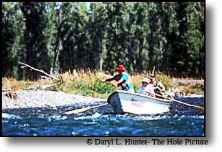 Chuck Yeager Mike Lawson fishing the Snake River in Jackson Hole WY one fly fishing contest
