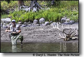 fly-fishing the Firehole River