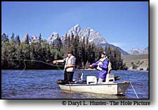fishing deadman's Bar on the Snake River in Jackson Hole Wyoming