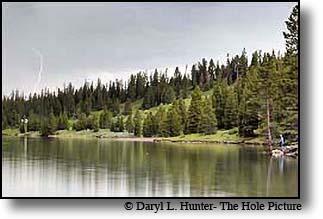 fisherman-lightning, Hyalite Reservior, Bozeman Montana