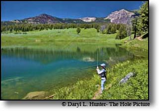 fisherman, Trout Lake, Yellowstone National Park