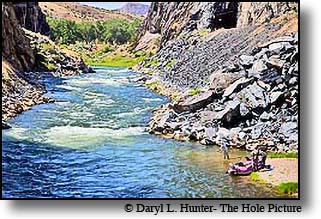 fly-fisherman, Wind River Canyon