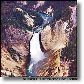 Scenic flight over yellowstone Park, Lower Yellowstone Falls
