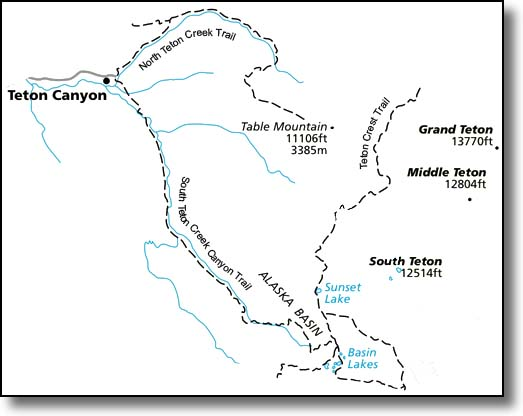North South Teton Creek Trail Map