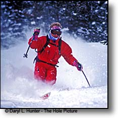 powder skiing Jackson Hole Wyoming