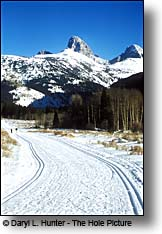 Teton Creek nordic ski trail Driggs Idaho Teton Valley