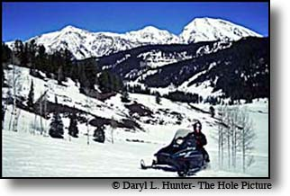 Snowmobiling Gros Ventre Mountains