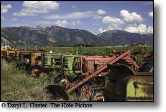 antique derilect tractors, Star Valley, Wyoming