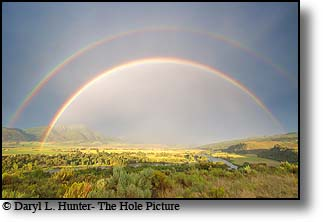 Swan Valley, Idaho, double rainbow, snake river, thunderstorm