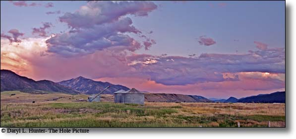 sunset, ranch, barley, Swan Valley, Idaho
