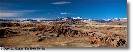 Badlands, Dubois Wyoming, Absaroka Mountains, panorama